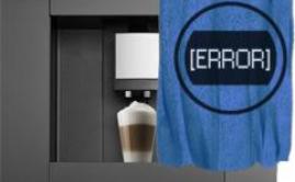 Какие ошибки могут выдавать кофеварки серий Royal, Magic Comfort, Stratos и другие аналоги с дисплеем.